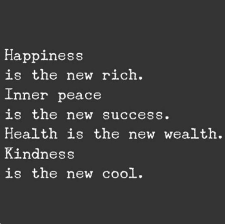 happiness is the new rich smile and happiness in yourself